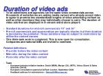 duration of video ads