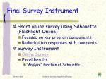 final survey instrument