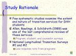study rationale