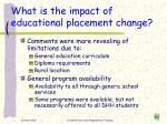 what is the impact of educational placement change