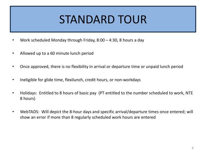 STANDARD TOUR