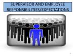 supervisor and employee responsibilities expectations