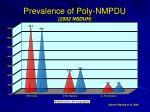 prevalence of poly nmpdu 2002 nsduh