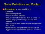 some definitions and context4