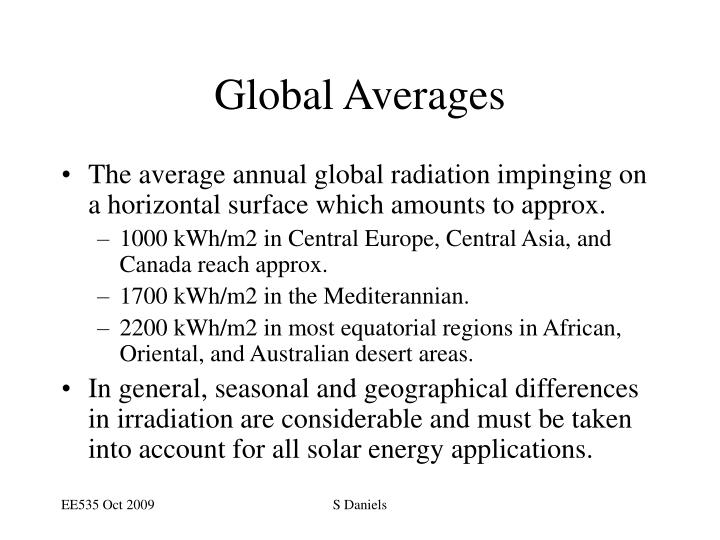 Global Averages