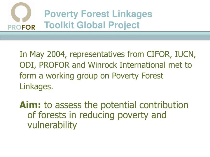 Poverty Forest Linkages