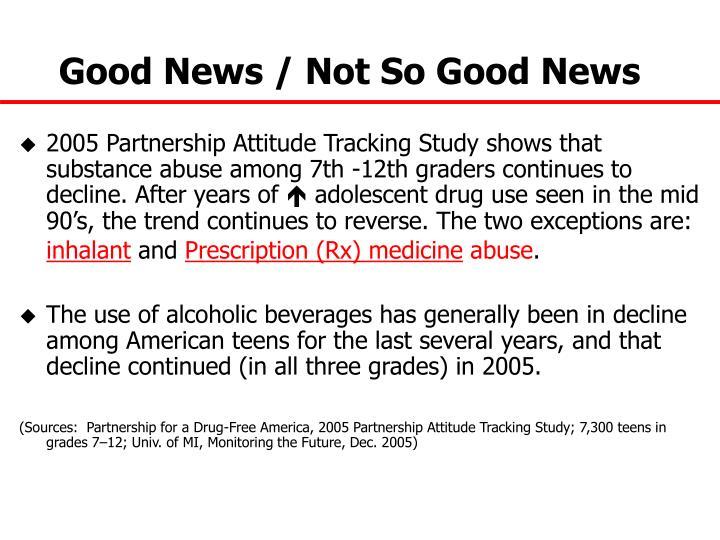 Good News / Not So Good News