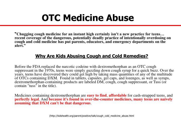 OTC Medicine Abuse