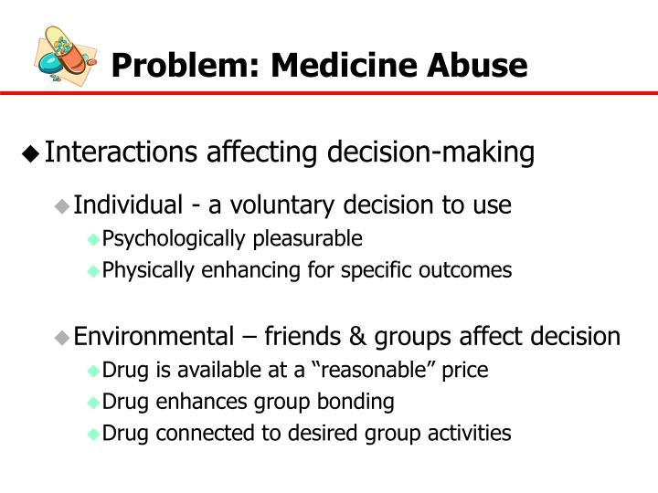 Problem: Medicine Abuse