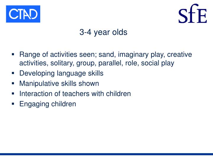 3-4 year olds