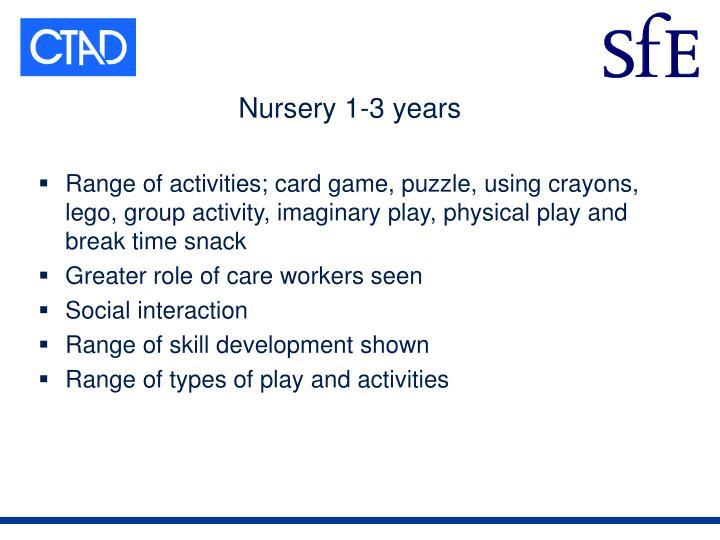 Nursery 1-3 years