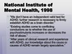national institute of mental health 1998