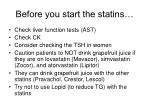 before you start the statins
