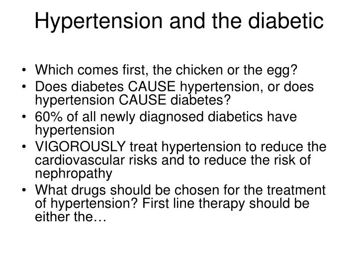 Hypertension and the diabetic