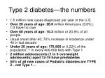 type 2 diabetes the numbers