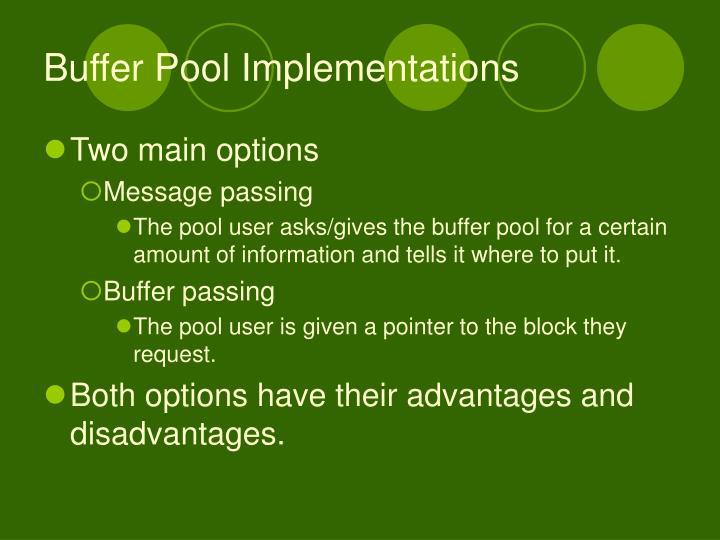 Buffer Pool Implementations