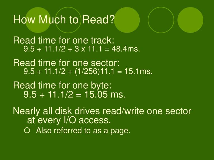 How Much to Read?