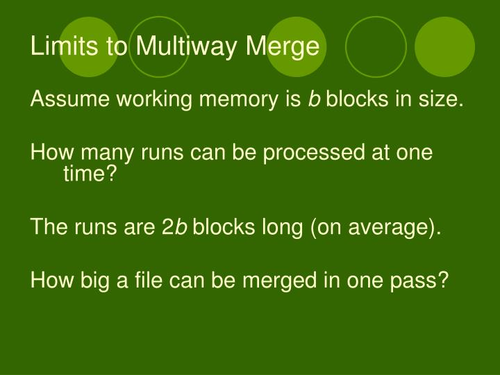 Limits to Multiway Merge