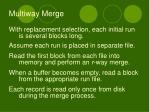 multiway merge