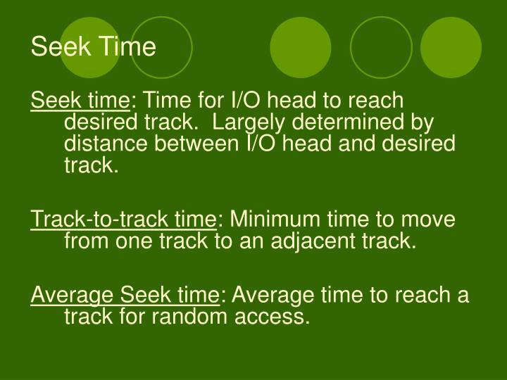 Seek Time