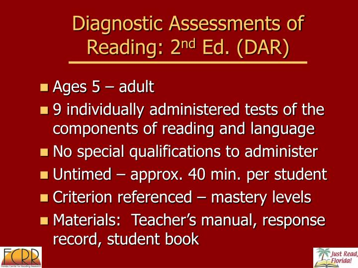 Diagnostic Assessments of Reading: 2