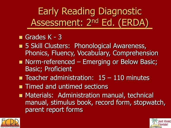 Early Reading Diagnostic Assessment: 2