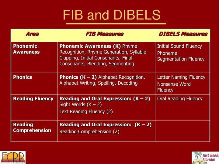 FIB and DIBELS