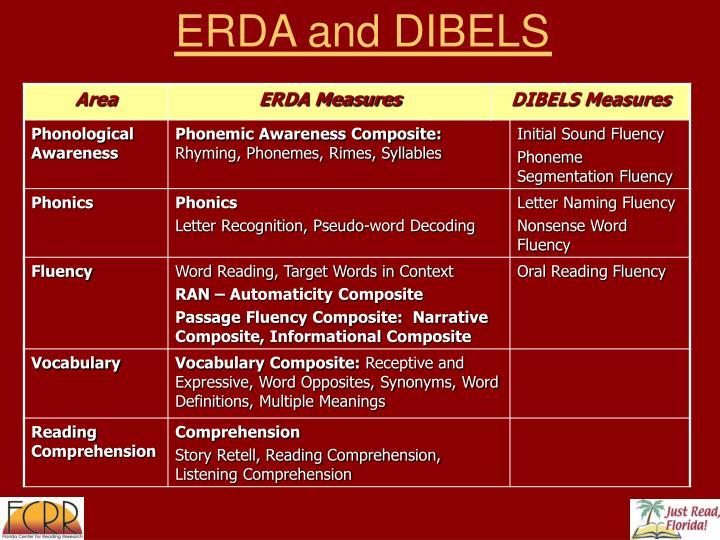 ERDA and DIBELS