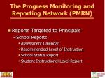the progress monitoring and reporting network pmrn