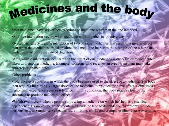 Medicines and the body