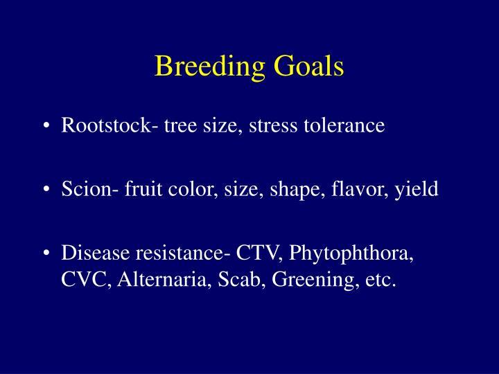 Breeding Goals