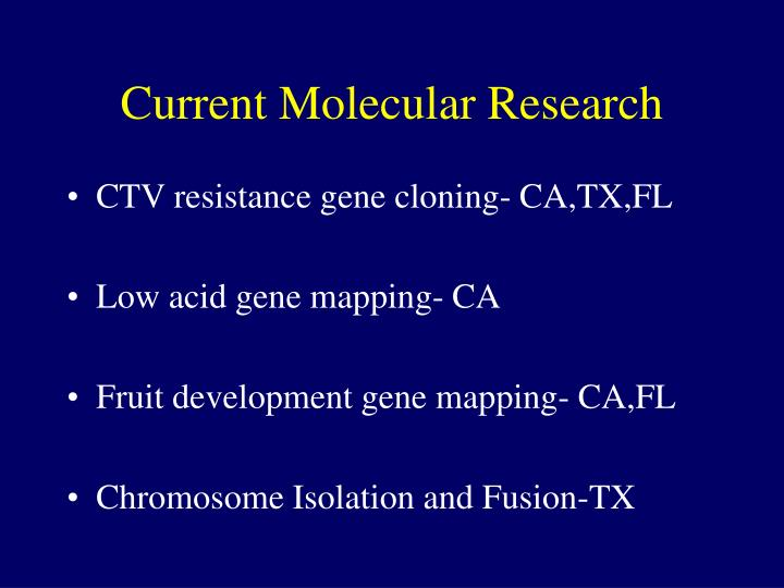 Current Molecular Research