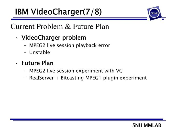 IBM VideoCharger(7/8)