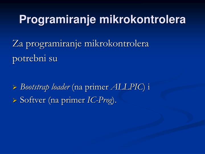 Programiranje mikrokontrolera