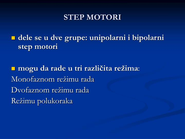 STEP MOTORI
