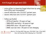 antifungal drugs and cgd