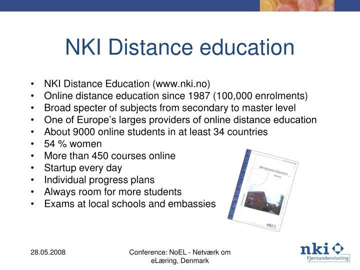 NKI Distance education