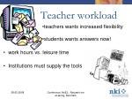 teacher workload