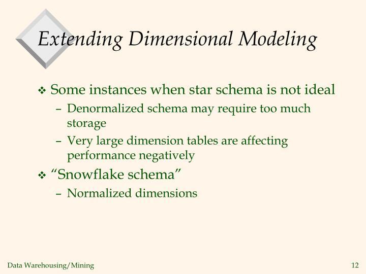 Extending Dimensional Modeling