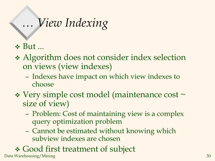 … View Indexing