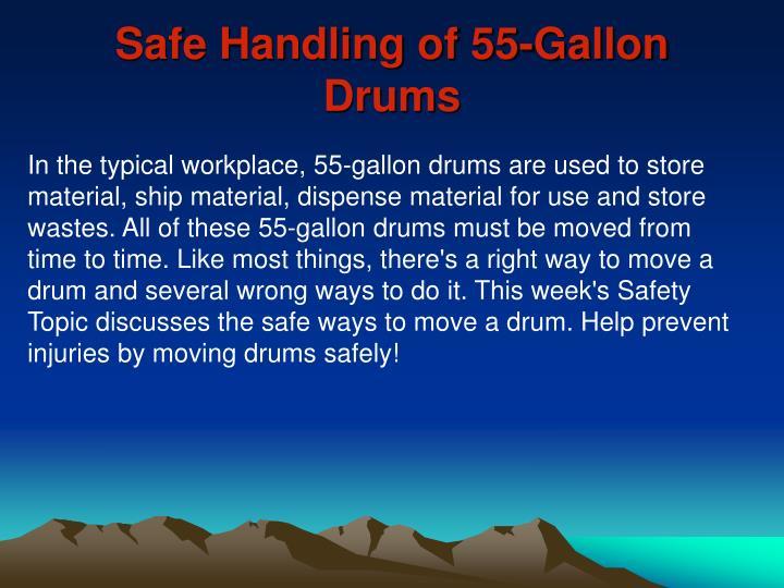 Safe Handling of 55-Gallon Drums