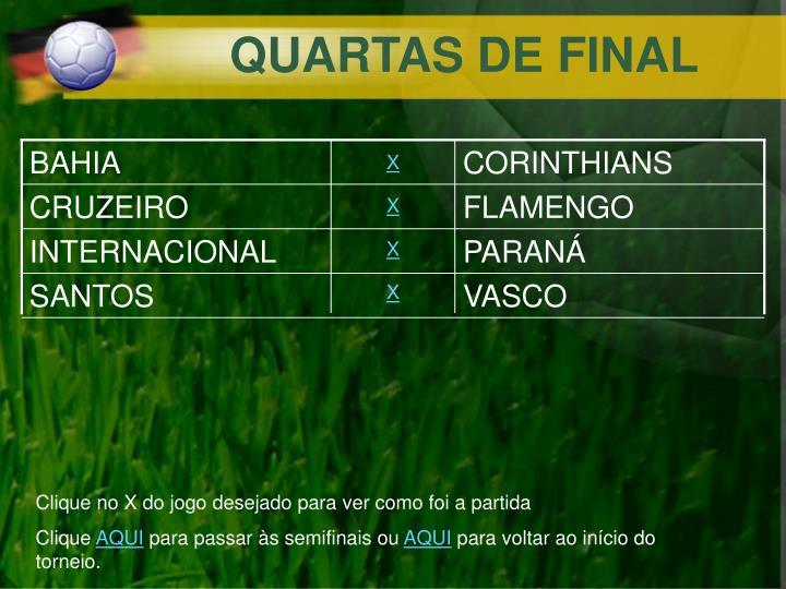QUARTAS DE FINAL