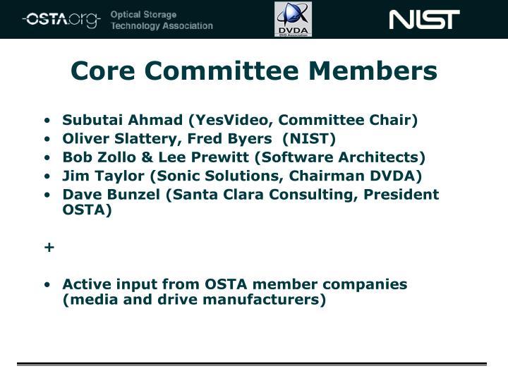 Core Committee Members