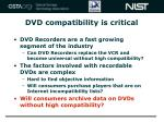 dvd compatibility is critical