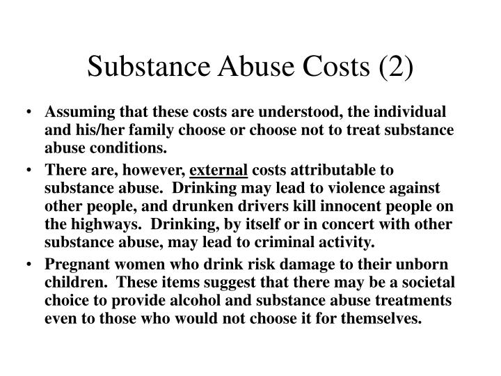 Substance Abuse Costs (2)