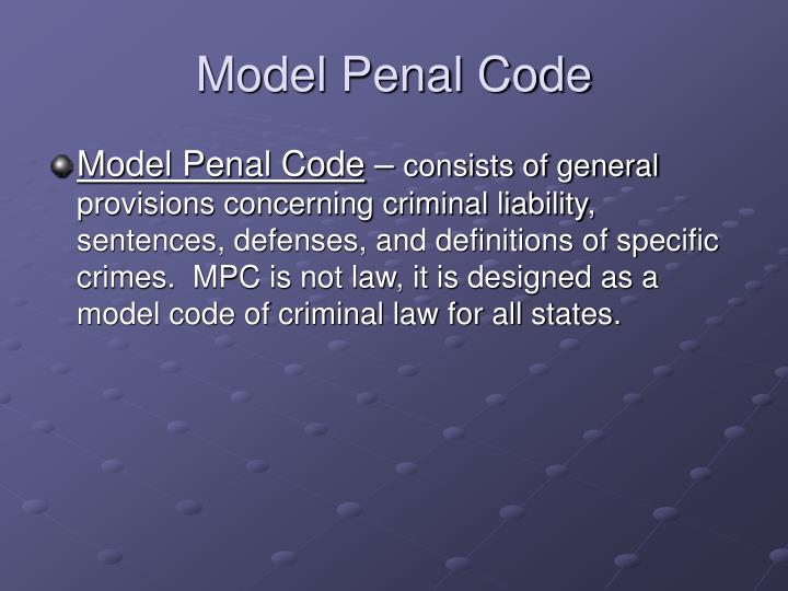 Model Penal Code