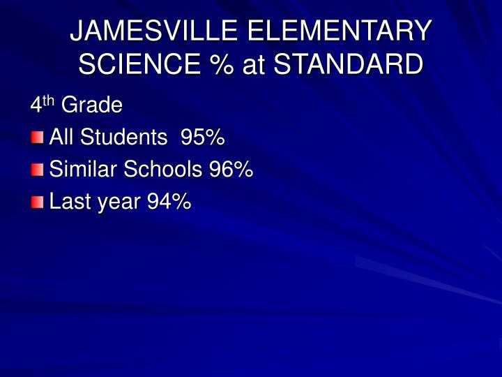 JAMESVILLE ELEMENTARY