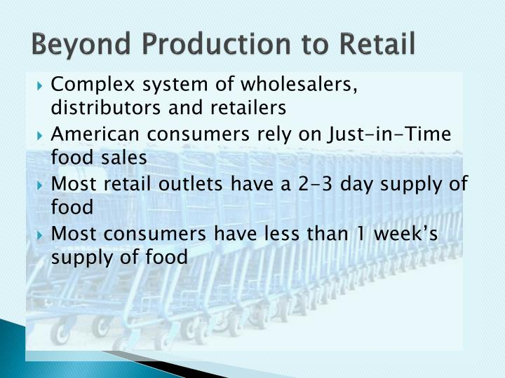 Beyond Production to Retail