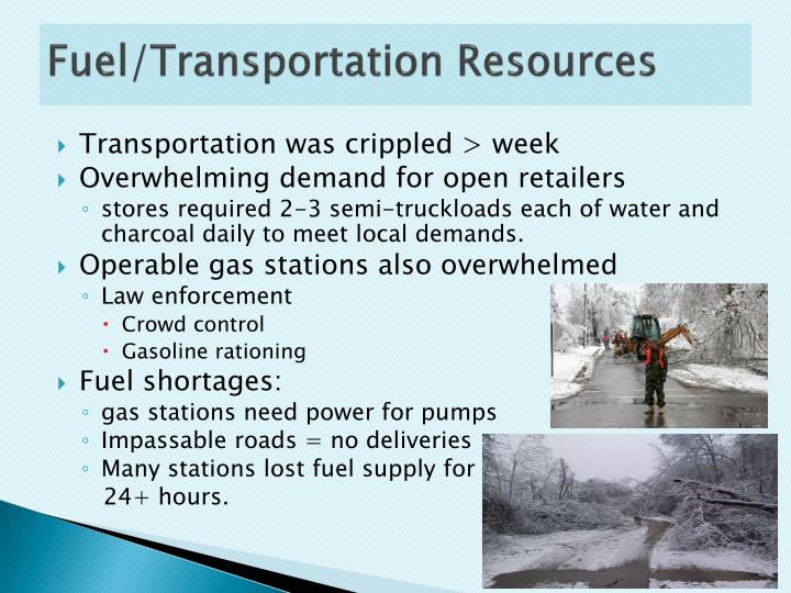 Fuel/Transportation Resources