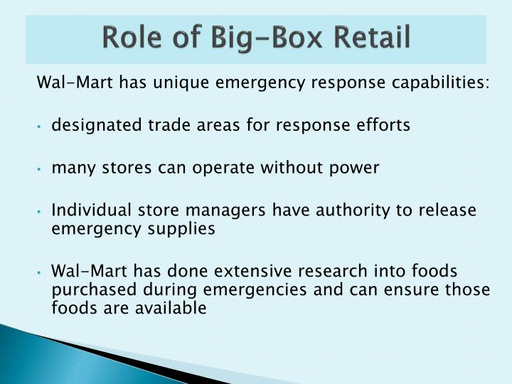 Role of Big-Box Retail